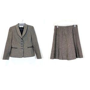 Arthur S Levine 2 Piece Blazer Skirt Suit Button